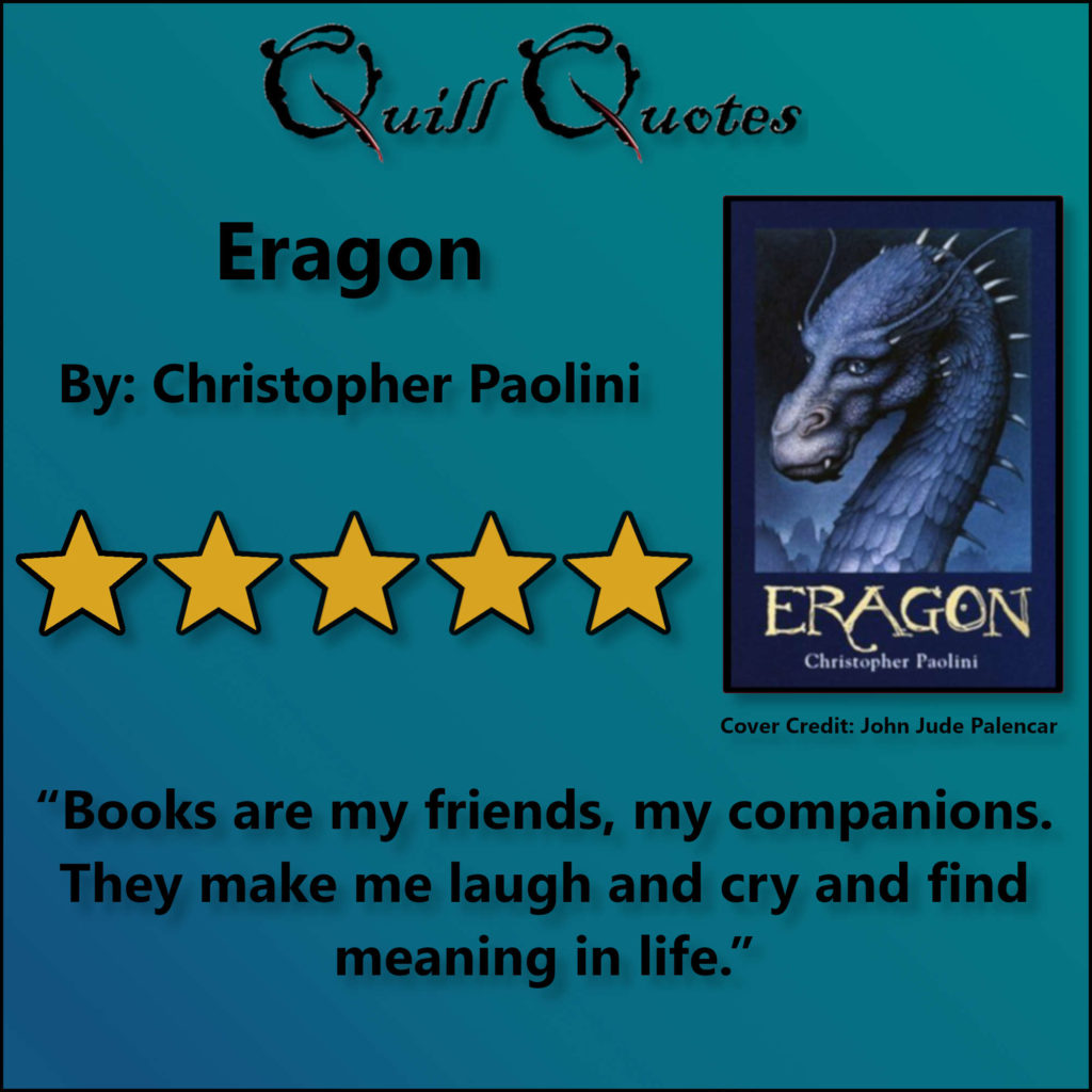 Eragon by Christopher Paolini: The Best Dragon Book ...  Eragon Book Quotes